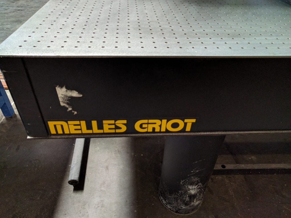 Melles Griot--Optical Table Breadboard-9919 For Sale