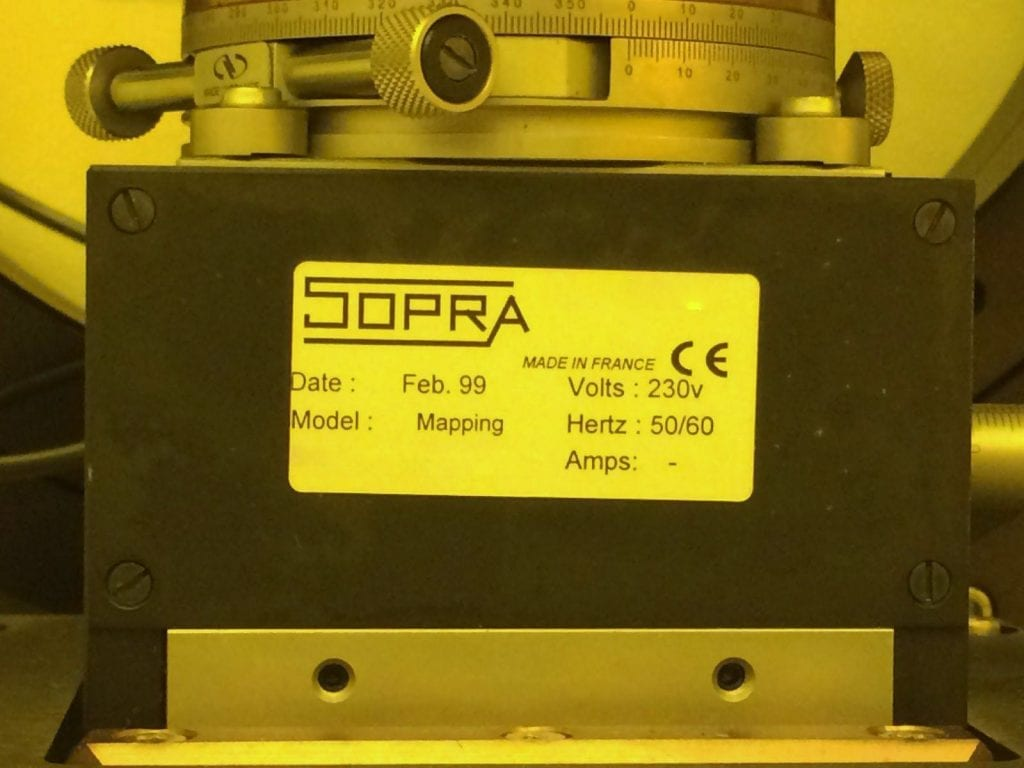 Sopra-GESP 5-Thin Film Characterization Station-33642 For Sale