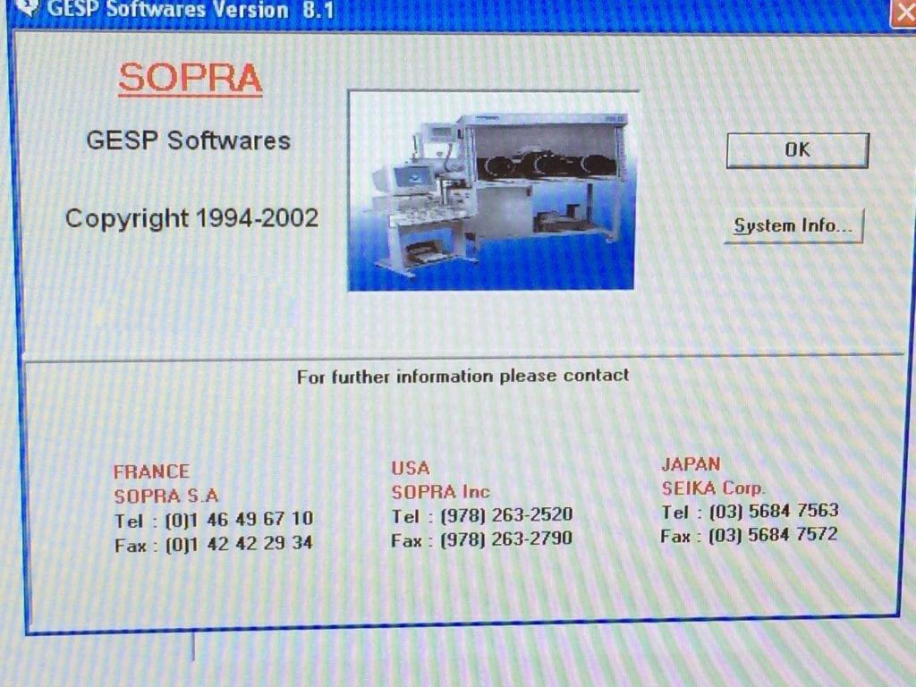 Buy Sopra-GESP 5-Thin Film Characterization Station-33642 Online