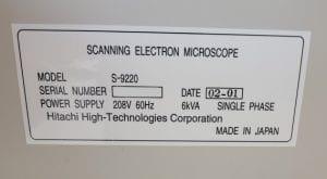 Hitachi-S-9220-Critical Dimension - Scanning Electron Microscopy (CD-SEM)-33815 Image 4