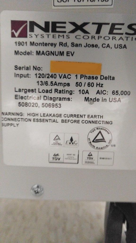 Nextest-Magnum EV-Tester-33163 Refurbished