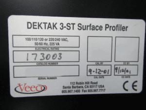 Buy Veeco / Bruker-Dektak 3 ST-Surface Profiler-34085 Online