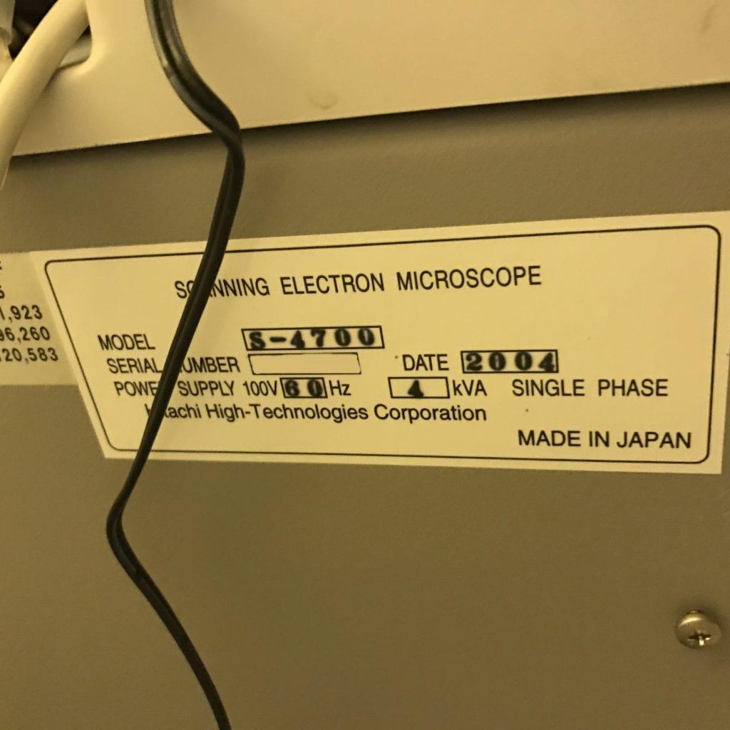 Hitachi-S 4700-Full Wafer Scanning Electron Microscope (SEM)-32726 Refurbished