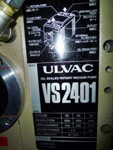Ulvac-VS 2401-Pumps-32673 Refurbished
