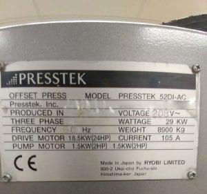 PressTek-52 DI AC-Printing Machine-41329 Image 6
