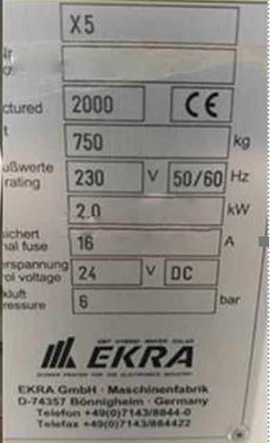 Ekra-X 5-Auto Screen Printer-42346 Refurbished