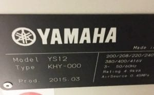 Yamaha-YS 12-Pick and Place-42194 Image 17