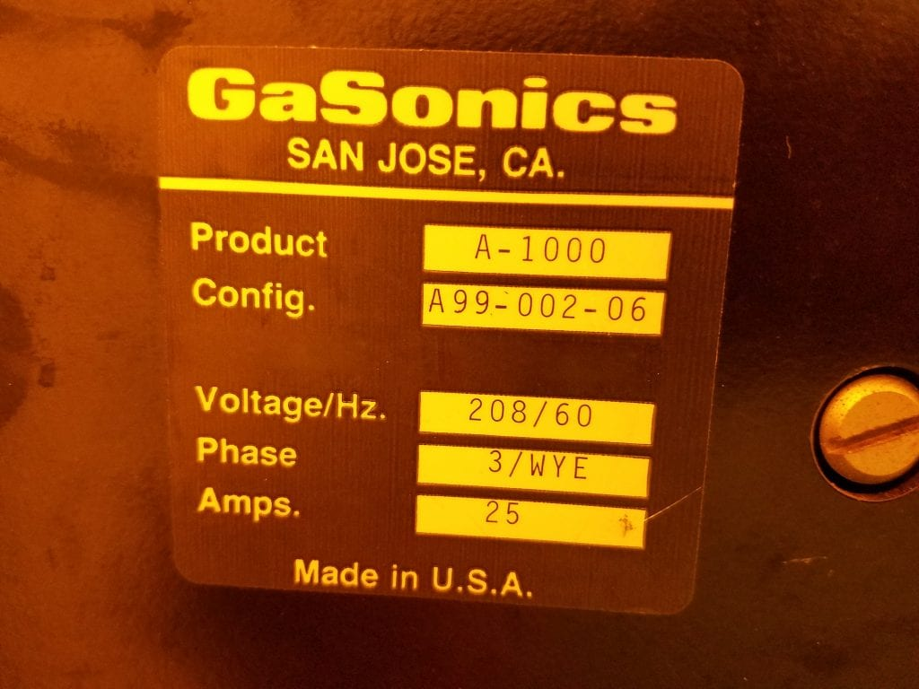 Buy Gasonics-Aura A 1000-Photoresist Asher-47387 Online