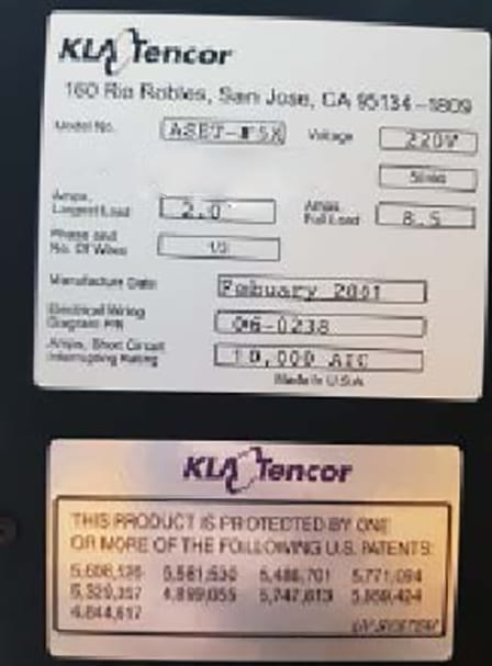 Ask KLA-Tencor-Aset F 5 X-Inspection System-54819