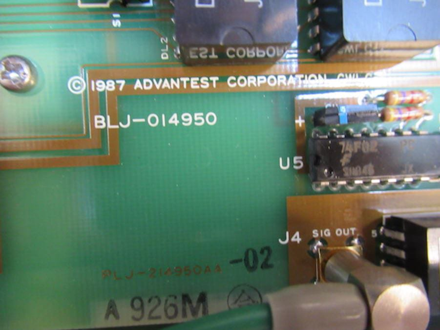Check out Advantest TQ 8346 Optical Spectrum Analyzer