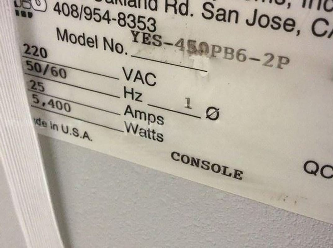 Buy Yes 450 PB 6-2 P Vacuum Oven Online