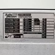 Buy Audio Precision SYS 2722 A System Two Cascade Plus
