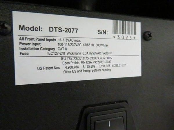 Wavecrest DTS 2077 Digital Time System Refurbished