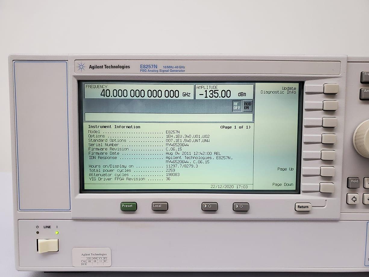 Buy Online Agilent / Keysight-E 8257 N-PSG Analog Sweep Signal Generator-58101