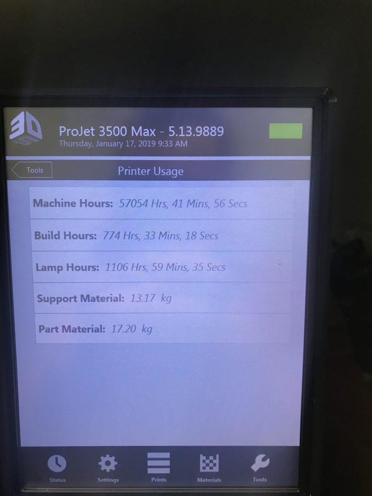 ProJet  3500 HD Max  3D Printer  58858 Refurbished