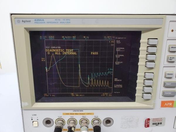 Purchase Agilent 4294A Precision Impedance Analyzer 40Hz-110MHz -58701