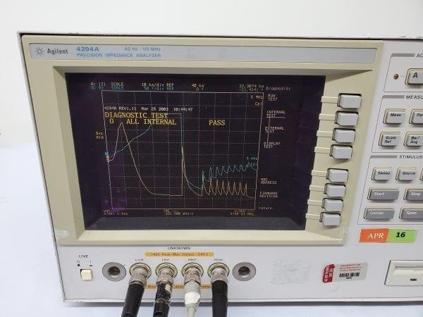 Buy Online Agilent 4294A Precision Impedance Analyzer 40Hz-110MHz -58701