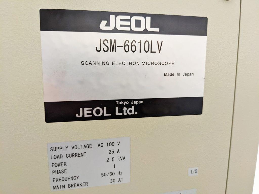 View Jeol  JSM 6610 LV  Electron Microscope  58913