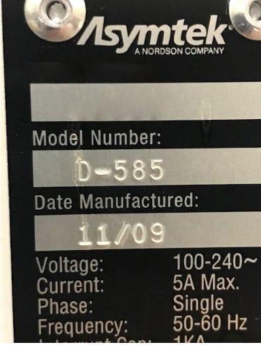 Asymtek D 585 Table Top Dispenser 60023 For Sale