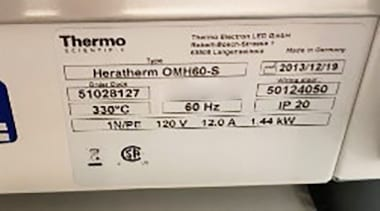 Check out Thermo Scientific Heratherm OMH 60 S Oven 60010
