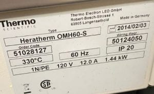 Thermo Scientific Heratherm OMH 60 S Oven 60010 Image 3