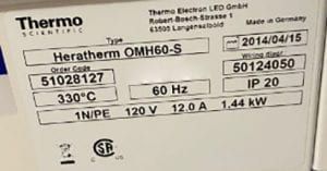 Thermo Scientific Heratherm OMH 60 S Oven 60010 Image 4