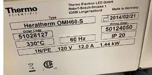 Purchase Thermo Scientific Heratherm OMH 60 S Oven 60010