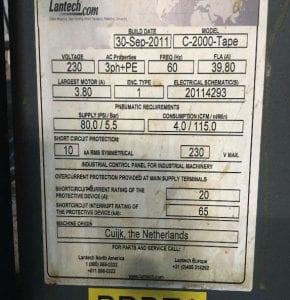Lantech  C 2000 Tape  Automatic Case Erecting System  60127 Image 40