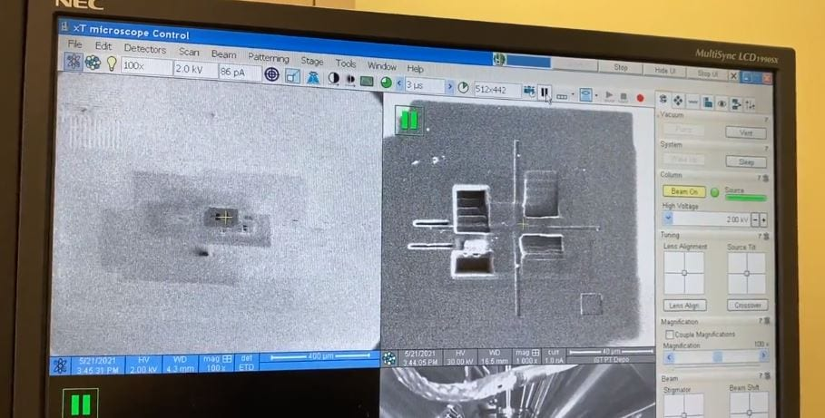 Check out FEI  Helios 600  Dual Beam Electron Microscope  60113