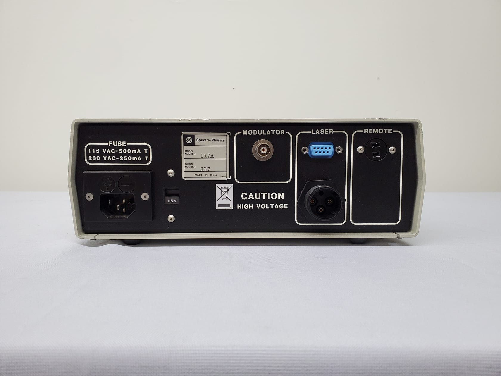 Buy Spectra Physics 117 A Stabilized HeNe Laser Controller -60002 Online