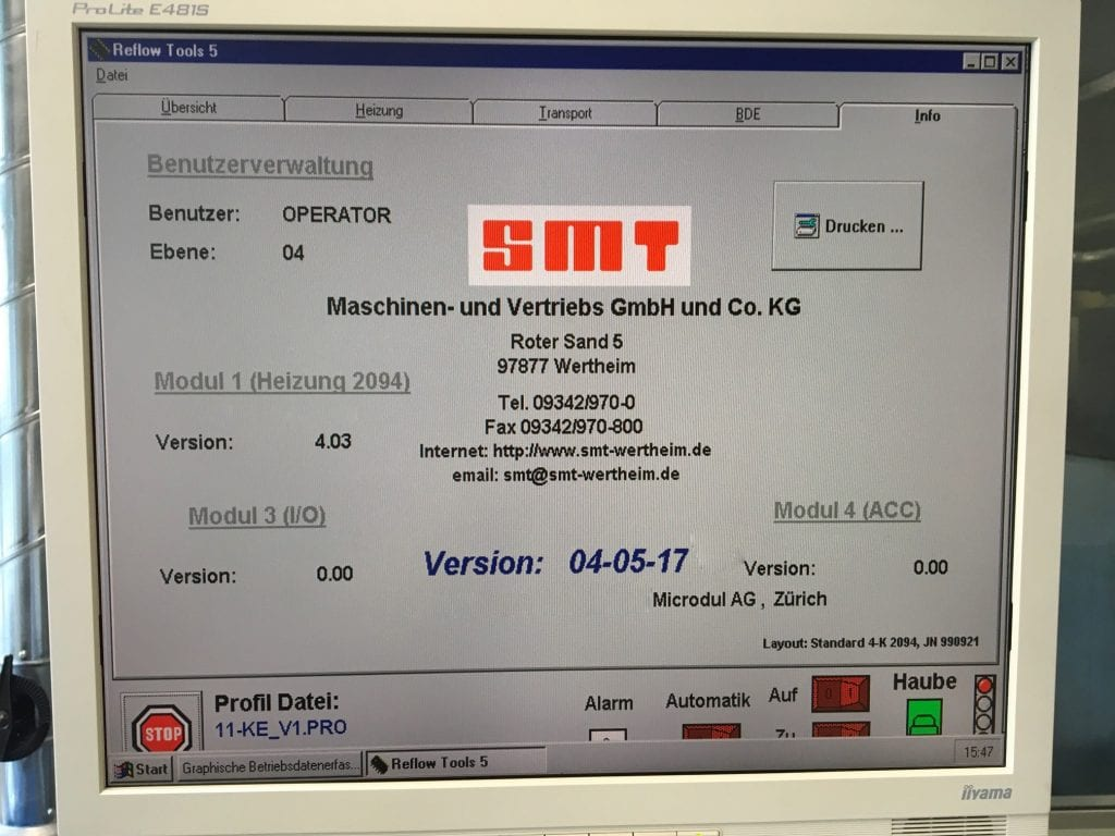 Buy Online SMT 460 / 1.6 C Reflow Oven 60008