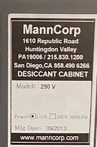 Buy MannCorp Desiccant Cabinet, Dry Box 60012 Online