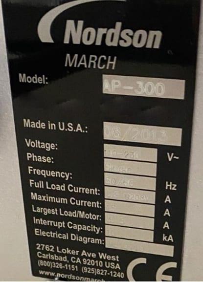 Nordson / March AP 300 Dual Gas Plasma Chamber 60013 Refurbished