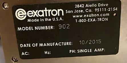 Exatron 902 Linear Pick and Place 60017 Refurbished