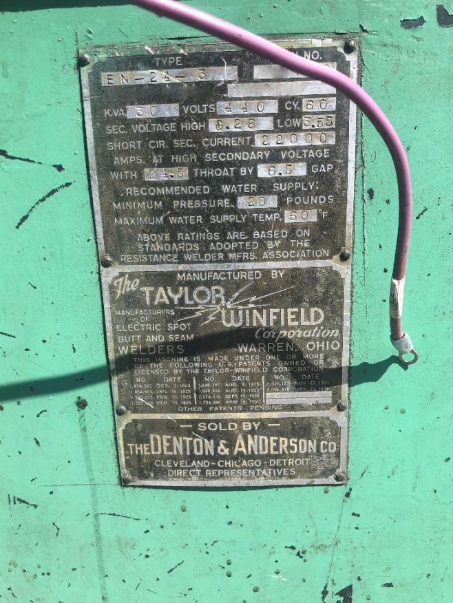 Buy Taylor Winfield EN 24 3 Welder 59963 Online