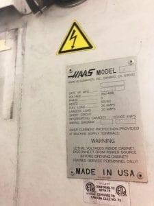 Haas VF 3 59975 Refurbished