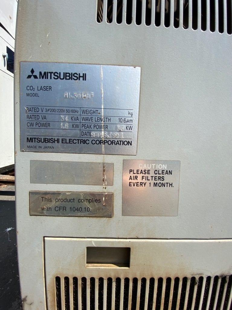 Buy Mitsubishi ML 3016 F CO2 Laser 59967 Online