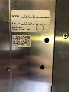 TDK PD 21 B Control Board 59965 For Sale