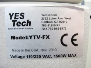 Yestech  YTV FX  Inline AOI  60129 Refurbished