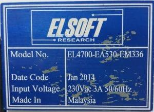 Elsoft  EL 4700 EA 530 EM 336  Manual FUT Tester  60142 For Sale