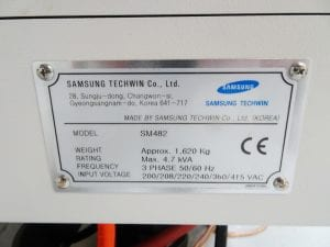 Samsung SM 482 Pick and Place Machine 59971 Image 5
