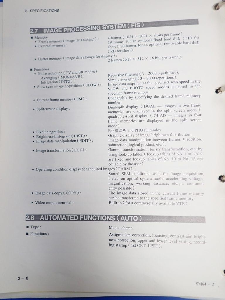 Jeol  6400  Scanning Electron Microscope (SEM)  60214 Image 4