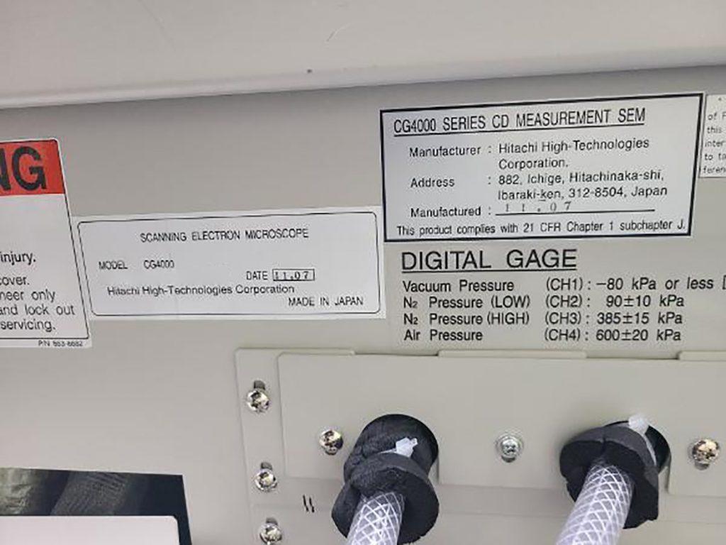 Check out Hitachi  CG 4000  CD SEM  61364