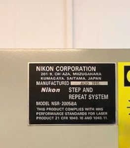 Nikon  NSR 2005 i 8 A  Stepper  61353 Image 2