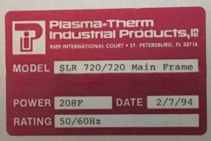 Plasmatherm SLR 720 PECVD / Reactive Ion Etch (RIE) Deposition System 61287 Image 4