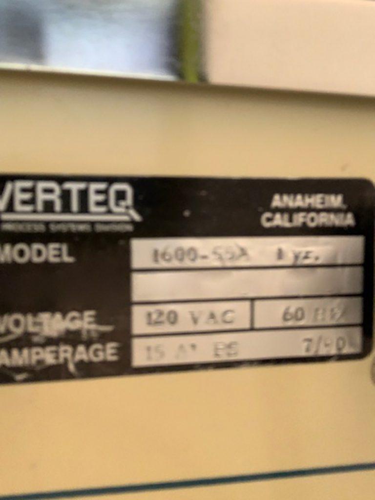 Purchase Verteq  1600 55  Spin Rinse Dryer (SRD)  61434