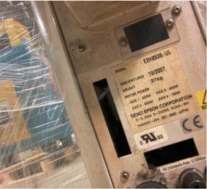 Epson Seiko E 2 H 853 S UL Robot Arm 61299 For Sale