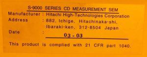 Hitachi S 9220 Critical Dimension   Scanning Electron Microscopy (CD SEM) 61303 For Sale Online
