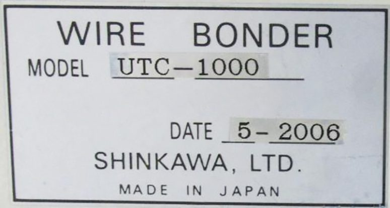 Buy Online Shinkawa  UTC 1000  Wire Bonder  61504