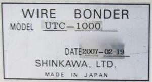Buy Online Shinkawa  UTC 1000  Wire Bonder  61506